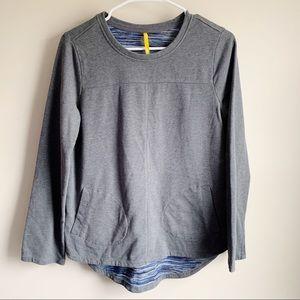 Lole Lined Gray Outdoor Athletic Sweatshirt